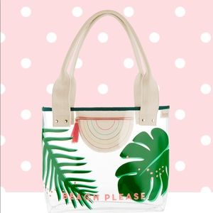 Benefit cosmetics hoola clear tote bag